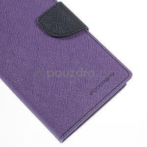 Fialové/tmavě modré peněženkové pouzdro na Asus Zenfone 5 - 7