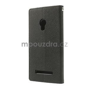 Černé PU kožené pouzdro Asus Zenfone 5 - 7