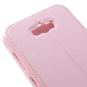 Luxusní pouzdro s okýnkem na mobil Asus Zenfone Max - růžové - 7