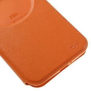 Luxusní pouzdro s okýnkem na mobil Asus Zenfone Max - oranžové - 7