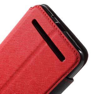 Diary peněženkové pouzdro s okýnkem na Asus Zenfone Max - červené - 7