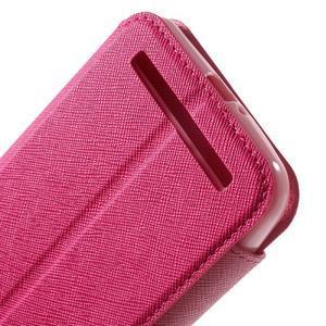 Diary peněženkové pouzdro s okýnkem na Asus Zenfone Max - rose - 7