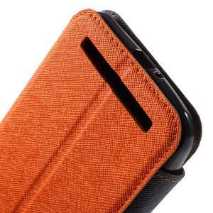 Diary peněženkové pouzdro s okýnkem na Asus Zenfone Max - oranžové - 7