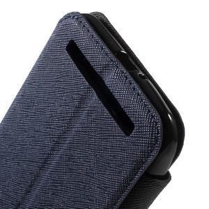 Diary peněženkové pouzdro s okýnkem na Asus Zenfone Max - tmavěmodré - 7