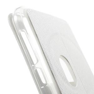 Peněženkové pouzdro s okýnkem na Asus Zenfone Zoom - bílé - 7