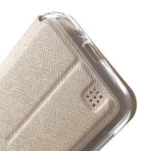 Peněženkové pouzdro s okýnkem na Asus Zenfone Zoom - zlaté - 7