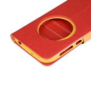 PU kožené pouzdro na Asus Zenfone Zoom - červené - 7