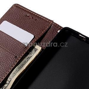 Zapínací PU kožené pouzdro na Huawei P8 Lite - červené - 7