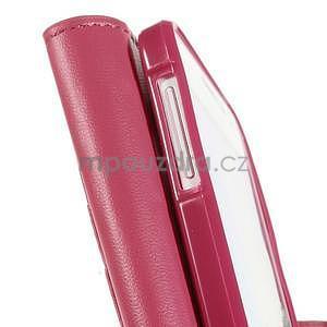Rose PU kožené peněženkové pouzdro na Samsung Galaxy A3 - 7