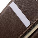 Černé/hnědé PU kožené pouzdro na Samsung Galaxy A3 - 7/7