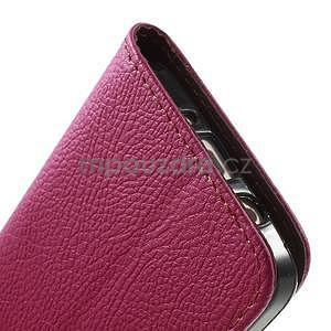 Rose/hnědé PU kožené pouzdro na Samsung Galaxy A3 - 7