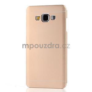 Zlatý kovový kryt na Samsung Galaxy A3 - 7