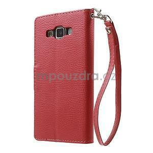 Červené/hnědé PU kožené pouzdro na Samsung Galaxy A5 - 7