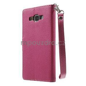Rose/hnědé PU kožené pouzdro na Samsung Galaxy A5 - 7