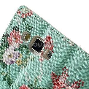 Peněženkové zapínací pouzdro na Samsung Galaxy A5 - kytice - 7