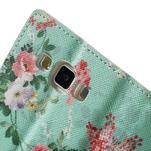 Peněženkové zapínací pouzdro na Samsung Galaxy A5 - kytice - 7/7
