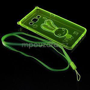 Zelený gelový obal s nastavitelným stojánkem na Samsung Galaxy A5 - 7