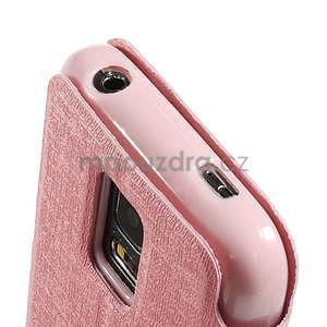 Růžové zapínací pouzdro na Samsung Galaxy S5 mini - 7