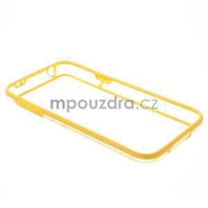 Žlutý gelový kryt s plastovými lemy na Samsung Galaxy S5 mini - 7