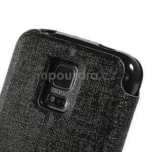 Černé zapínací pouzdro na Samsung Galaxy S5 mini - 7