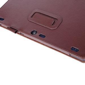 Dvoupolohový PU kožený obal na Lenovo Tab 2 A10-70 - hnědé - 7