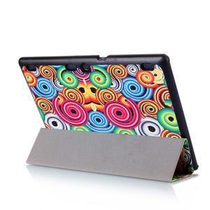 Polohovatelné pouzdro na tablet Lenovo Tab 2 A10-70 - barevné kruhy - 7