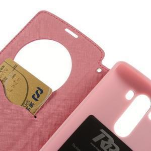 Diary pouzdro s okýnkem na mobil LG G3 - rose - 7