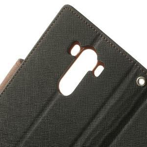 Goos peněženkové pouzdro na LG G3 - černé/hnědé - 7