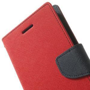 Goos peněženkové pouzdro na LG G3 - červené - 7