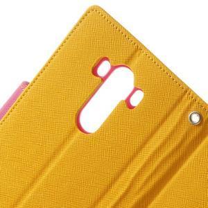 Goos peněženkové pouzdro na LG G3 - žluté - 7