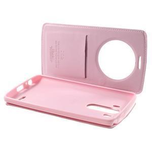 Roar peněženkové pouzdro s okýnkem na LG G3 - růžové - 7