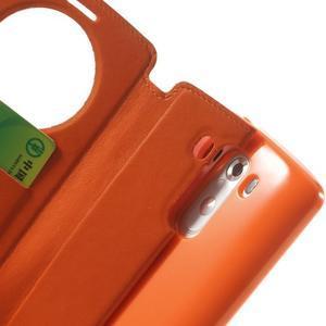 Roar peněženkové pouzdro s okýnkem na LG G3 - oranžové - 7