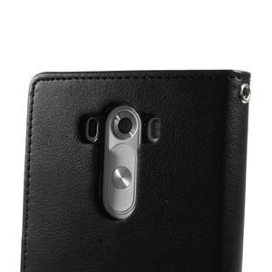 Luxusní PU kožené pouzdro na mobil LG G3 - černé - 7