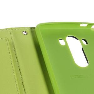 Luxusní PU kožené pouzdro na mobil LG G3 - tmavěmodré - 7