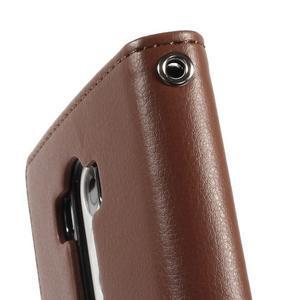 Luxusní PU kožené pouzdro na mobil LG G3 - hnědé - 7