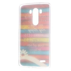 Gelový kryt na mobil LG G3 - barvy dřeva - 7