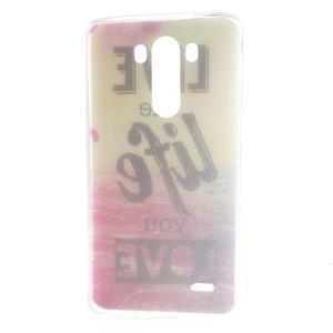 Silks gelový obal na mobil LG G3 - love - 7