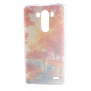 Silks gelový obal na mobil LG G3 - podzimní malba - 7