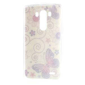 Silks gelový obal na mobil LG G3 - motýlci - 7