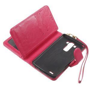 Patrové peněženkové pouzdro na mobil LG G3 - rose - 7