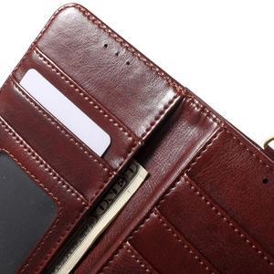 Patrové peněženkové pouzdro na mobil LG G3 - hnědé - 7