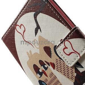 Zapínací peněženkové pouzdro pro LG G3 s - zamilovaní ptáčci - 7