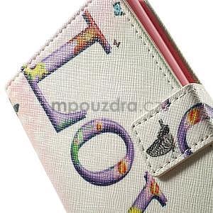 Zapínací peněženkové pouzdro pro LG G3 s - love - 7