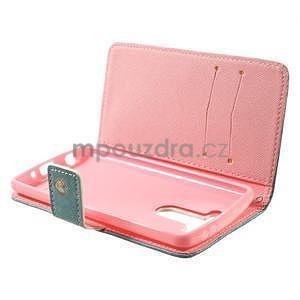 Zapínací peněženkové pouzdro pro LG G3 s - srdce - 7