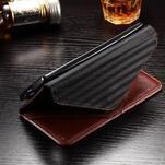 Enlop peněženkové pouzdro na LG G4 - hnědé/černé - 7/7