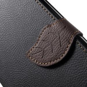 Leaf peněženkové pouzdro na mobil LG G4 - černé - 7