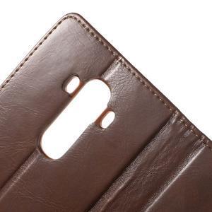 Luxury PU kožené pouzdro na mobil LG G4 - hnědé - 7