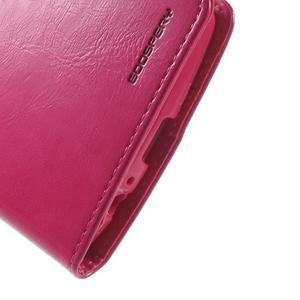 Luxury PU kožené pouzdro na mobil LG G4 - rose - 7