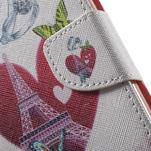 Wall peněženkové pouzdro na LG G5 - srdeční Eiffelova věž - 7/7