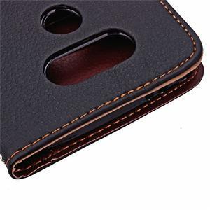 Leaf PU kožené pouzdro na LG G5 - černé - 7